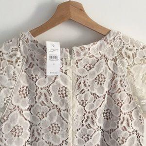 LOFT Dresses - White Lace Dress